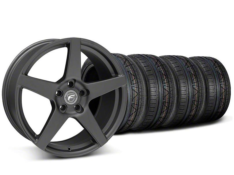 Forgestar CF5 Monoblock Matte Black Wheel & NITTO INVO Tire Kit - 18x9 (05-14 All)