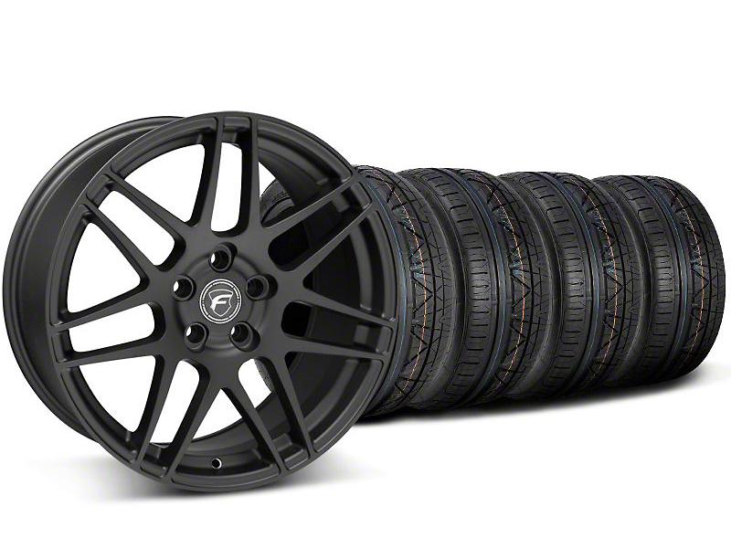 Forgestar F14 Monoblock Matte Black Wheel & NITTO INVO Tire Kit - 18x9 (05-14 All)