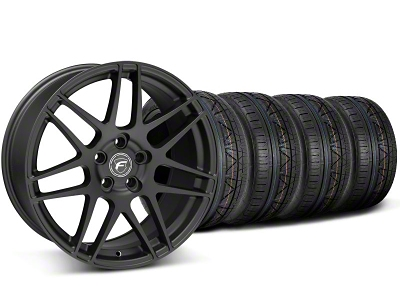 Forgestar Staggered F14 Monoblock Matte Black Wheel & NITTO INVO Tire Kit - 18x9/10 (05-14 All)