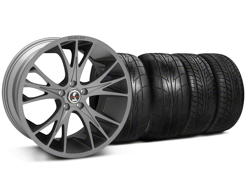Staggered Shelby CS1 Gunmetal Wheel & NITTO Tire Kit - 20x9/11 (05-14 All)