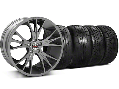 Staggered Gunmetal Shelby CS1 Wheel & NITTO Tire Kit - 20x9/11 (05-14 All)