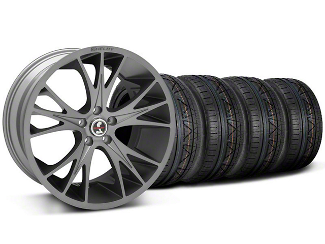 Shelby Staggered CS1 Gunmetal Wheel & NITTO INVO Tire Kit - 20x9/11 (05-14 All)