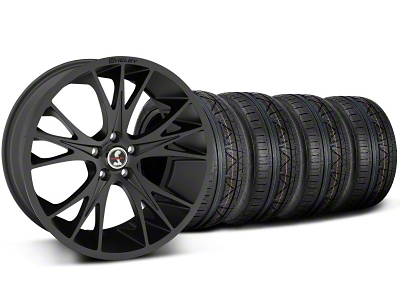 Shelby Staggered CS1 Matte Black Wheel & NITTO INVO Tire Kit - 20x9/11 (05-14 All)