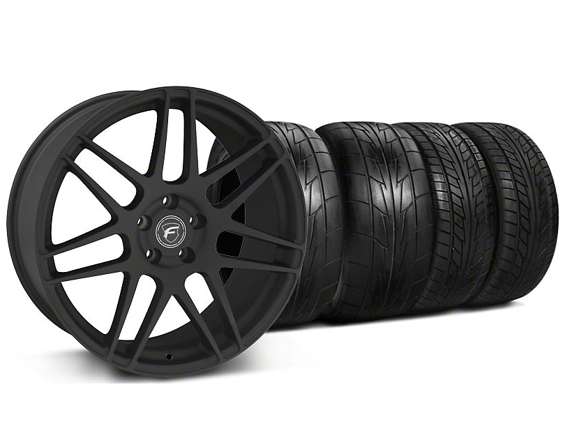 Staggered Forgestar F14 Monoblock Textured Black Wheel & NITTO Tire Kit - 20x9/11 (05-14 All)
