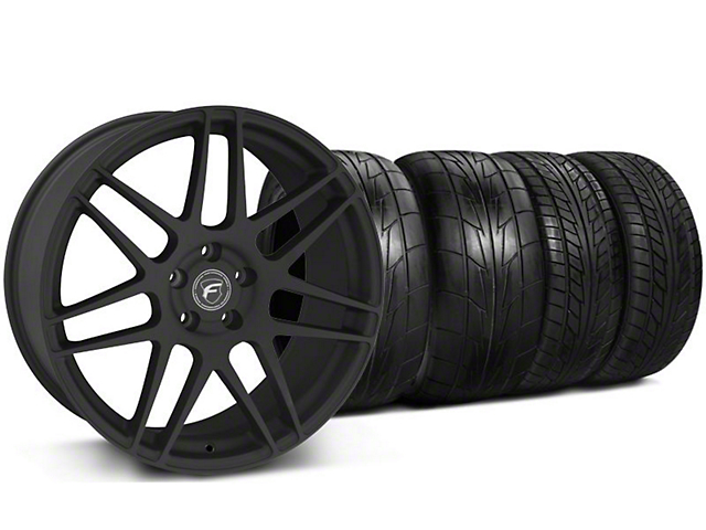 Forgestar Staggered F14 Monoblock Textured Black Wheel & NITTO Tire Kit - 20x9/11 (05-14 All)