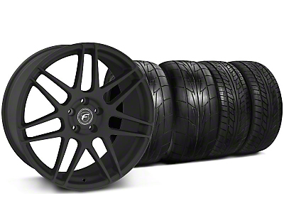 Staggered Textured Black Forgestar F14 Monoblock Wheel & NITTO Tire Kit - 20x9/11 (05-14 All)