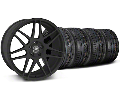 Staggered Textured Matte Black Forgestar F14 Monoblock Wheel & NITTO Invo Tire Kit - 20x9/11 (05-14 All)