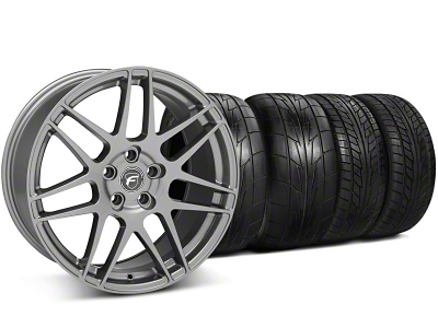 Forgestar Staggered F14 Monoblock Gunmetal Wheel & NITTO Tire Kit - 20x9/11 (05-14 All)