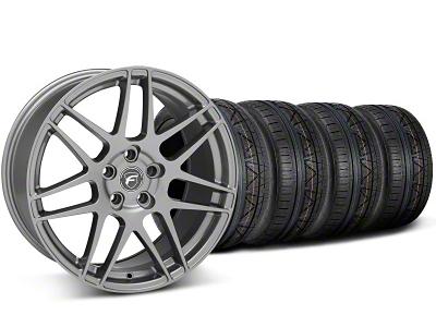 Forgestar Staggered F14 Monoblock Gunmetal Wheel & NITTO INVO Tire Kit - 20x9/11 (05-14 All)
