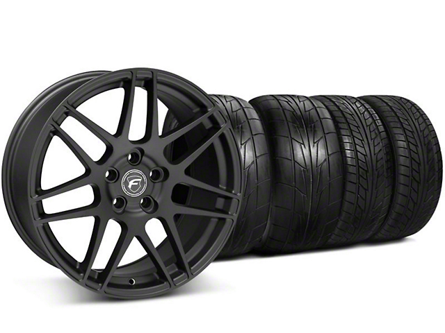 Forgestar Staggered F14 Monoblock Matte Black Wheel & NITTO Tire Kit - 20x9/11 (05-14 All)