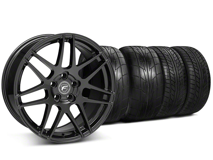Staggered Forgestar F14 Monoblock Gloss Black Wheel & NITTO Tire Kit - 20x9/11 (05-14 All)