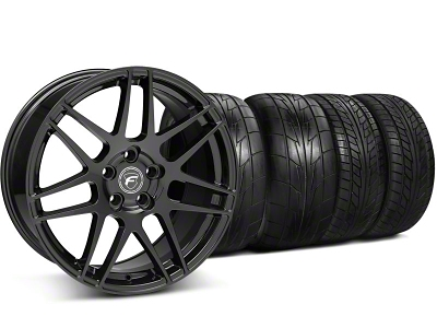 Forgestar Staggered F14 Monoblock Gloss Black Wheel & NITTO Tire Kit - 20x9/11 (05-14 All)