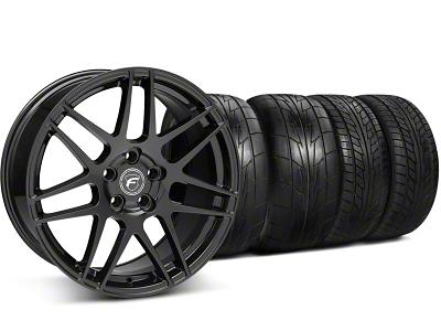 Forgestar Staggered F14 Monoblock Gloss Black Wheel & NITTO Tire Kit - 20x9/11 (05-14 All)