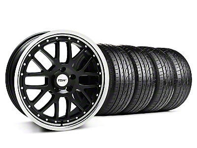 TSW Staggered Valencia Black w/ Polished Lip Wheel & Sumitomo Tire Kit - 20x8.5/10 (05-14 GT, V6)