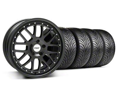 TSW Staggered Valencia Matte Black Wheel & Sumitomo Tire Kit - 18x8/9.5 (94-04 All)
