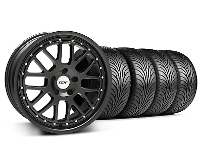 TSW Staggered Valencia Matte Black Wheel & Sumitomo Tire Kit - 18x8/9.5 (94-04 All)