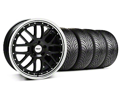 Staggered Black w/ Polished Lip TSW Valencia Wheel & Sumitomo Tire Kit - 18x8/9.5 (94-04 All)