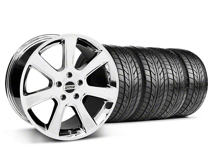 S197 Saleen Style Chrome Wheel & NITTO Tire Kit - 18x9 (94-98 All)