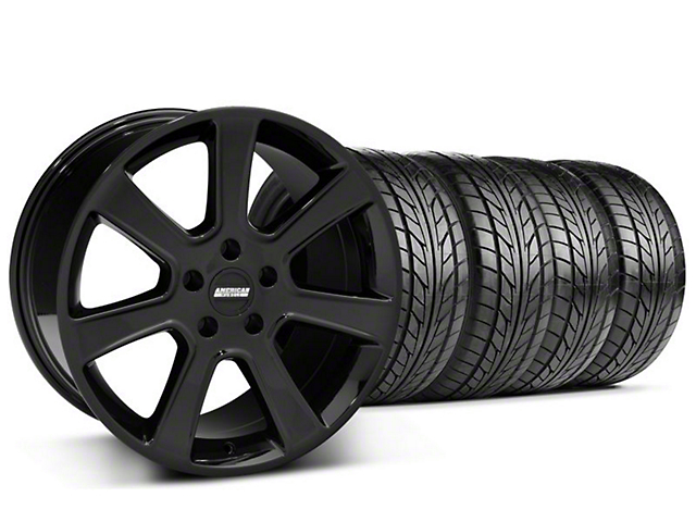 S197 Saleen Style Black Wheel & NITTO Tire Kit - 18x9 (94-98 All)