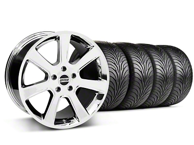 Staggered S197 Saleen Style Chrome Wheel & Sumitomo Tire Kit - 18x9/10 (05-14 All)