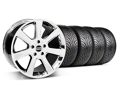 Staggered Chrome S197 Saleen Style Wheel & Sumitomo Tire Kit - 18x9/10 (05-14 All)