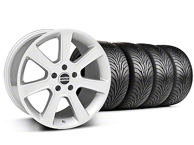 Staggered S197 Saleen Silver Wheel & Sumitomo Tire Kit - 18x9/10 (05-14 All)