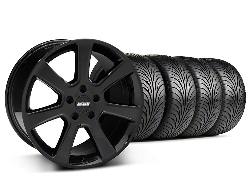 S197 Saleen Style Black Wheel & Sumitomo Tire Kit - 18x9 (05-14 All)