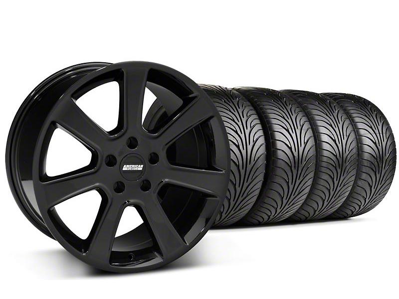 S197 Saleen Style Black Wheel & Sumitomo Tire Kit - 18x9 (05-14 All)