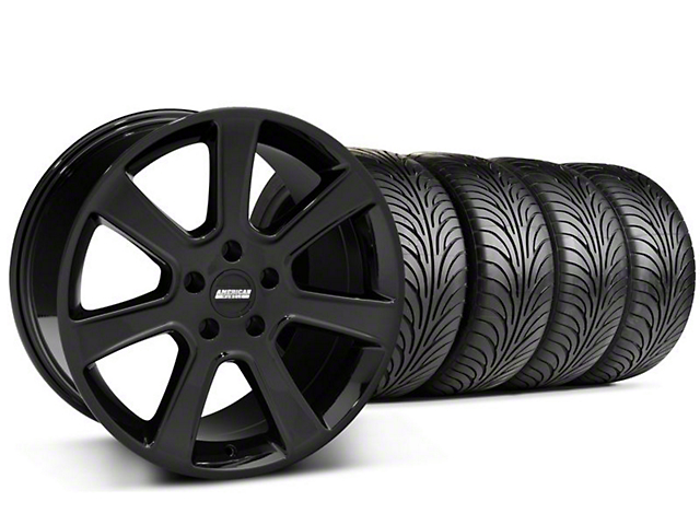 Staggered S197 Saleen Style Black Wheel & Sumitomo Tire Kit - 18x9/10 (05-14 All)