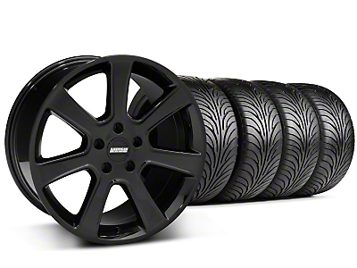 Staggered S197 Saleen Black Wheel & Sumitomo Tire Kit - 18x9/10 (05-14 All)