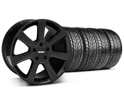 S197 Saleen Style Black Wheel & NITTO Tire Kit - 20x9 (05-14 All)