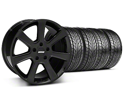 Staggered S197 Saleen Style Black Wheel & NITTO Tire Kit - 20x9/10 (05-14 All)