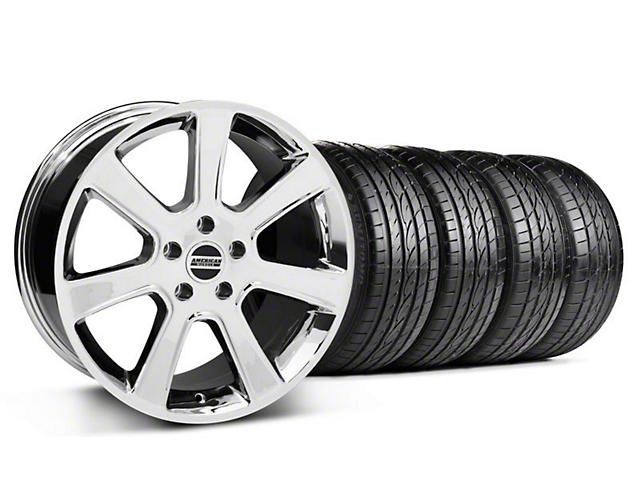S197 Saleen Style Chrome Wheel & Sumitomo Tire Kit - 20x9 (05-14 All)