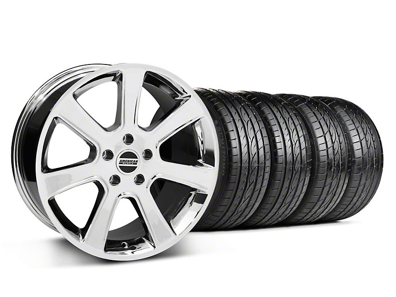 Staggered S197 Saleen Style Chrome Wheel & Sumitomo Tire Kit - 20x9/10 (05-14 All)
