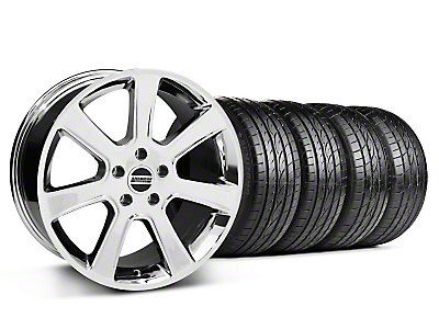 Staggered Chrome S197 Saleen Style Wheel & Sumitomo Tire Kit - 20x9/10 (05-14 All)