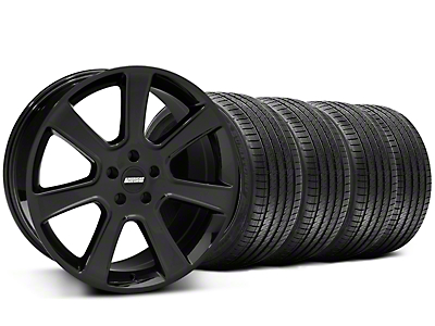 Black S197 Saleen Style Wheel & Sumitomo Tire Kit - 20x9 (05-14 All)