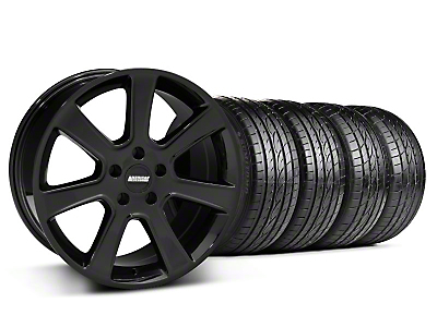 Staggered S197 Saleen Black Wheel & Sumitomo Tire Kit - 20x9/10 (05-14 All)