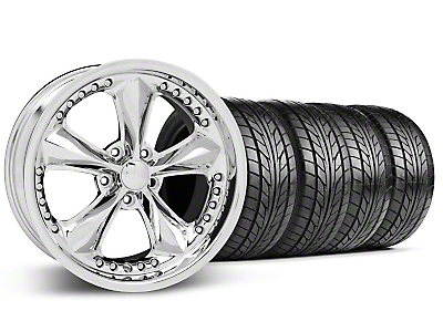 Foose Staggered Nitrous Chrome Wheel & NITTO Tire Kit - 18x9/10 (05-14 All)