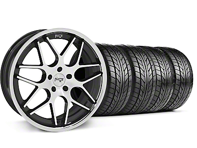 Niche Staggered Black Machined Mugello Wheel & NITTO Tire Kit - 20x8.5/10 (05-14 All)