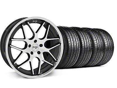 Staggered Black Machined Niche Mugello Wheel & Sumitomo Tire Kit - 20x8.5/10 (05-14 All)