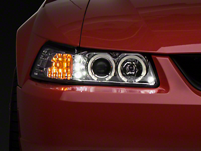Chrome Projector Headlights - Dual LED Halo (99-04 All)