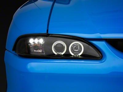 Black Projector Headlights - Dual LED Halo (94-98 All)