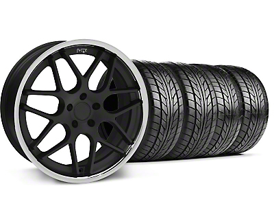 Niche Staggered Matte Black Mugello Wheel & NITTO Tire Kit - 20x8.5/10 (05-14 All)