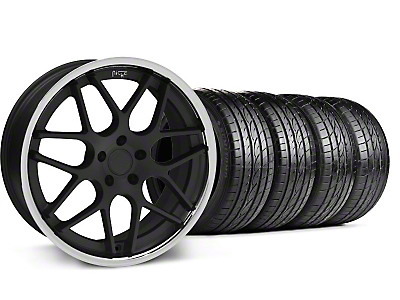 Staggered Matte Black Niche Mugello Wheel & Sumitomo Tire Kit - 20x8.5/10 (05-14 All)