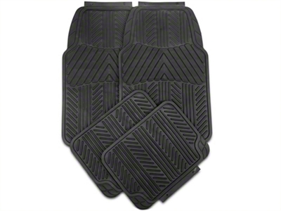 4-Piece All Weather Floor Mat Set - Black (79-14 All)