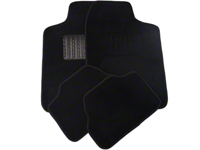 4-Piece Fabric Floor Mat Set - Black (79-14 All)