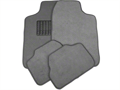 4-Piece Fabric Floor Mat Set - Grey (79-14 All)