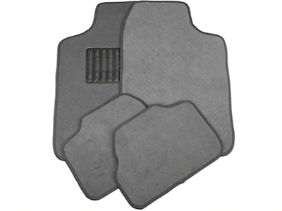 4-Piece Fabric Floor Mat Set - Gray (79-14 All)