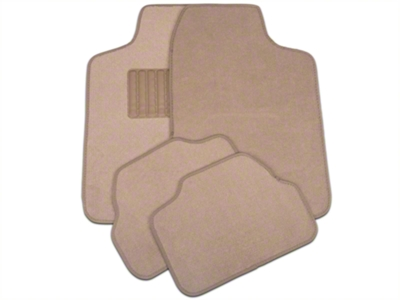 4-Piece Fabric Floor Mat Set - Beige (79-14 All)