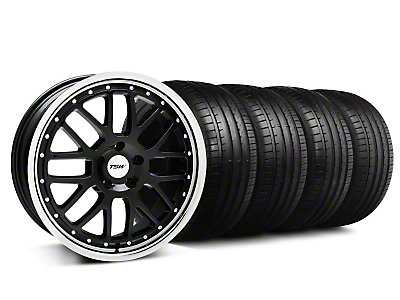 TSW Valencia Black w/ Polished Lip Wheel & Falken Tire Kit - 18x8 (99-04 All)